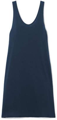 Skin - Opal Pima Cotton-jersey Chemise - Navy