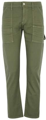Citizens of Humanity Leah Green Twill Cargo Trousers