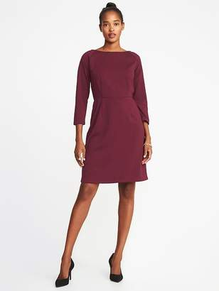 Old Navy Ponte-Knit 3/4-Sleeve Sheath Dress for Women