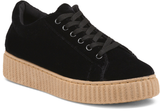 Velvet Fashion Sneakers $19.99 thestylecure.com