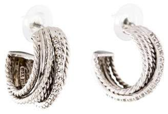David Yurman Diamond Crossover Earrings