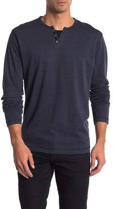 ProjekRaw Projek Raw Henley Drop Needle Long Sleeve Shirt