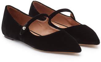 Tabitha Simmons Hermione Velvet Ballerinas with Leather