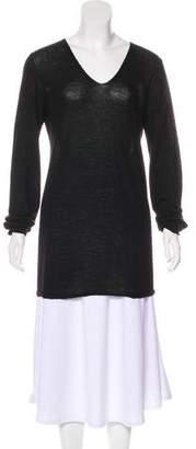 Rick Owens V-Neck Long Sleeve Sweater