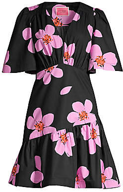 Kate Spade Women's Grand Flora Empire-Waist A-Line Dress