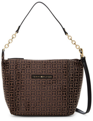 Tommy Hilfiger Eloise Logo Hobo Crossbody $98 thestylecure.com