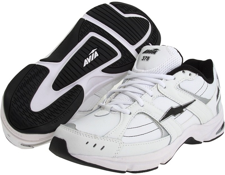 Avia A378M (White/Chrome Silver/Black) - Footwear