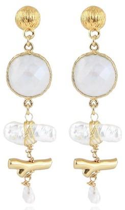 Women's Gas Bijoux Laguna Stone Drop Earrings $158 thestylecure.com