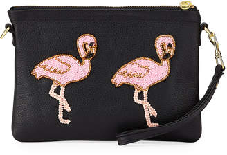 Tea & Tequila Flamingo Chain Clutch Bag, Black
