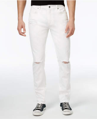 American Rag Men's Classic-Fit White Ripped Jeans, Only at Macy's $50 thestylecure.com