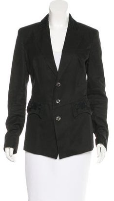 Jean Paul Gaultier Embroidered Notch-Lapel Blazer $90 thestylecure.com
