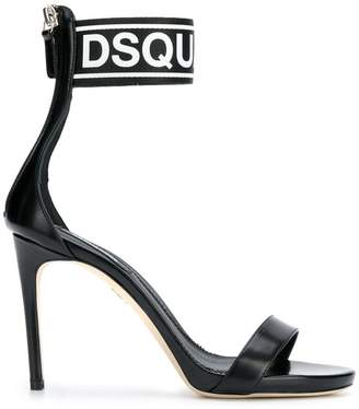 DSQUARED2 logo ankle strap sandals