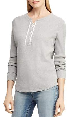Ralph Lauren Lace-Up Thermal Top