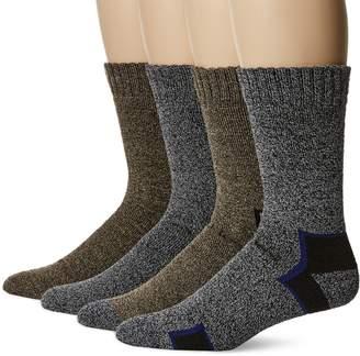 Dickies Socks CA Men's All Season Socks, Grey/Brown Asst, 10 to 13