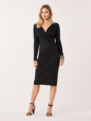 Diane von Furstenberg Regina Wool-Blend Midi Dress