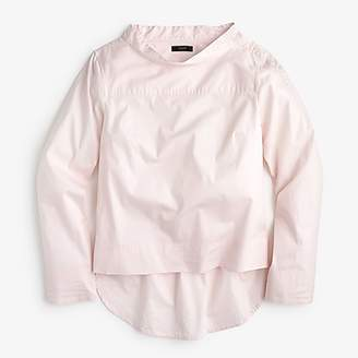J.Crew Petite funnelneck shirt