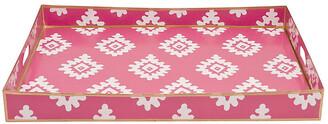 "Dana Gibson 22"" Block Print Tray - Pink"