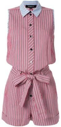 Paule Ka sleeveless striped playsuit