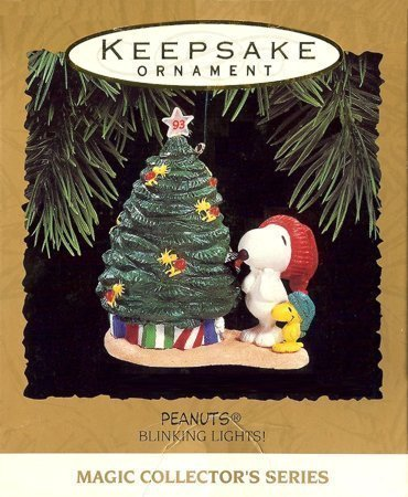 Hallmark Keepsake Ornament - Peanuts Blinking Lights Ornament 1993 (QLX7155)