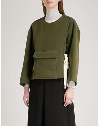 Mo&Co. Pocket-detail wool-blend coat