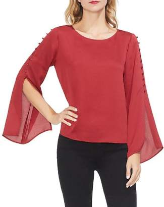 Vince Camuto Button-Sleeve Blouse