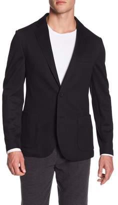 14th & Union Knit Jersey Trim Fit Comfort Blazer