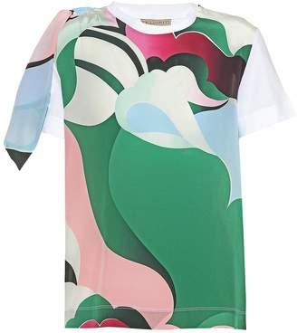 Emilio Pucci Printed silk T-shirt