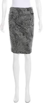 Yigal Azrouel Animal Print Pencil Skirt w/ Tags