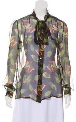 Dolce & Gabbana Floral Button-Up Top