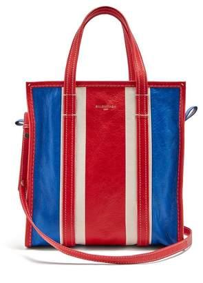 Balenciaga Bazar Shopper S - Womens - Red Stripe