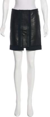 A.L.C. Leather Mini Skirt