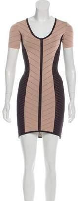 Torn By Ronny Kobo Short Sleeve Bodycon Dress