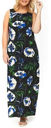 Evans Black Floral Maxi Dress