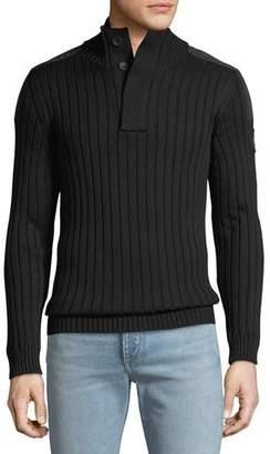 Canada Goose Men's 3/4-Button Turtleneck Sweater
