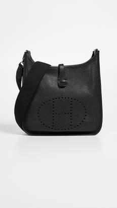 Hermes What Goes Around Comes Around Black Clemence Evelyne III PM Bag