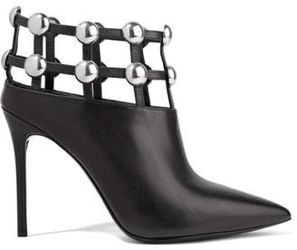 Alexander Wang Tina Studded Leather Ankle Boots - Black