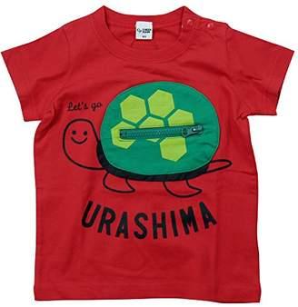 R & E (アール アンド イー) - 《初夏盛夏対応》 CHEEK ROOM(チイクルーム) 製品洗い加工済み42/2天竺かめさん半袖Tシャツ 90cm /RE NO.B-470134