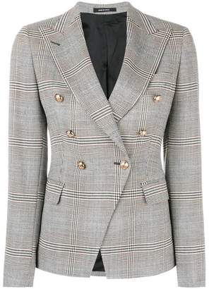 Tagliatore double-breasted check blazer