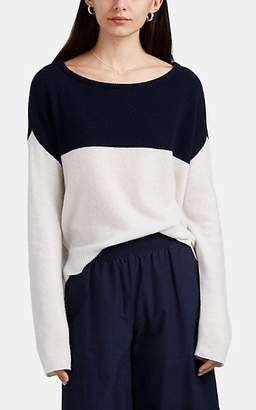 ATM Anthony Thomas Melillo Women's Colorblocked Cashmere Sweater - Navy