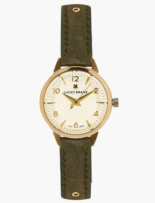 Lucky Brand Torrey Olive with Gold Studs Watch