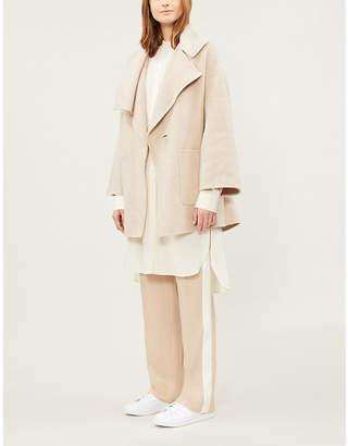 Vince Notch-lapel wool-blend wrap coat