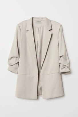 H&M Jacket with Gathered Sleeves - Brown