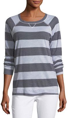 Allen Allen Raglan Striped Jersey Top $45 thestylecure.com