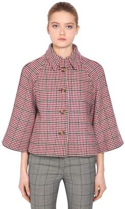 RED Valentino Wool Houndstooth Jacket