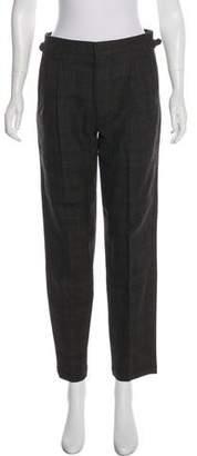 Billy Reid Virgin Wool High-Rise Pants