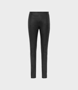 ff22c0eadd9895 Reiss Valerie - Leather Ponte Leggings in Black