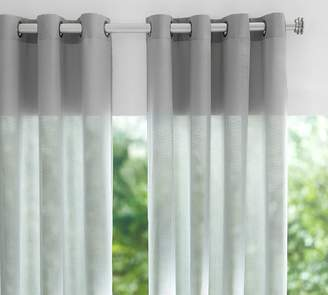 Pottery Barn Indoor/Outdoor Sheer Grommet Curtain - Gray Drizzle