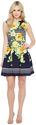 Christin Michaels - Florence Sleeveless Fit and Flare Dress Women's Dress $98 thestylecure.com