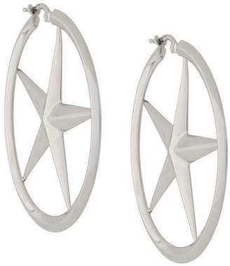 Alexander Wang star hoop earrings