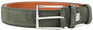 Santoni large buckle belt